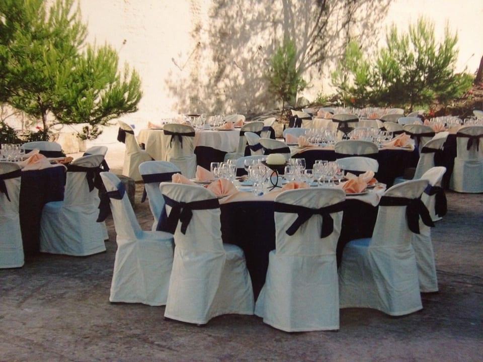 decoración para banquete de bodas en Menorca