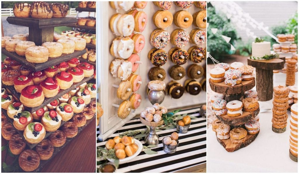 donuts bar tendencia en bodas