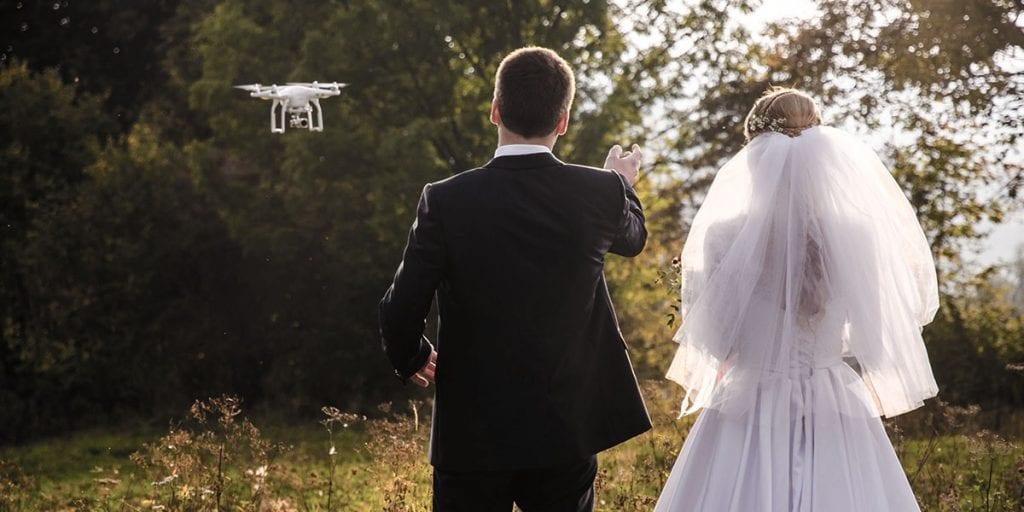 planos para bodas con dron