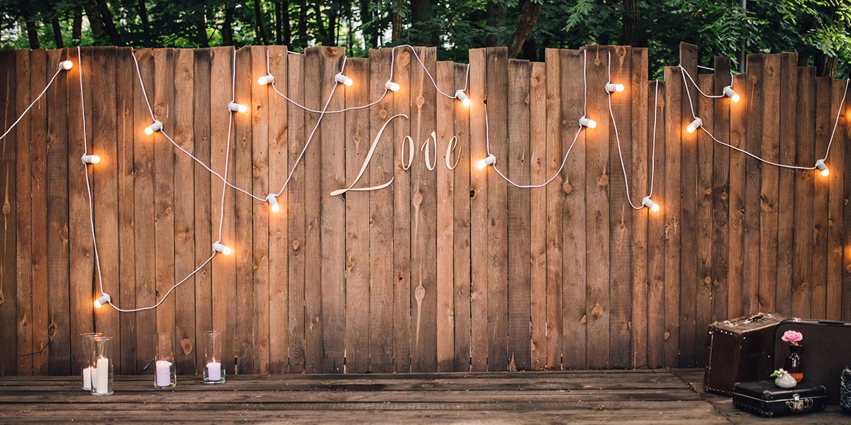 decoracion para bodas guirnaldas