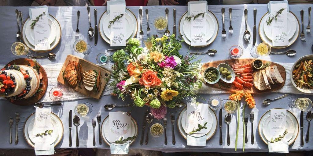 Menú para bodas en Menorca