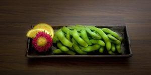 Edamame, entrantes para catering asiático-japonés