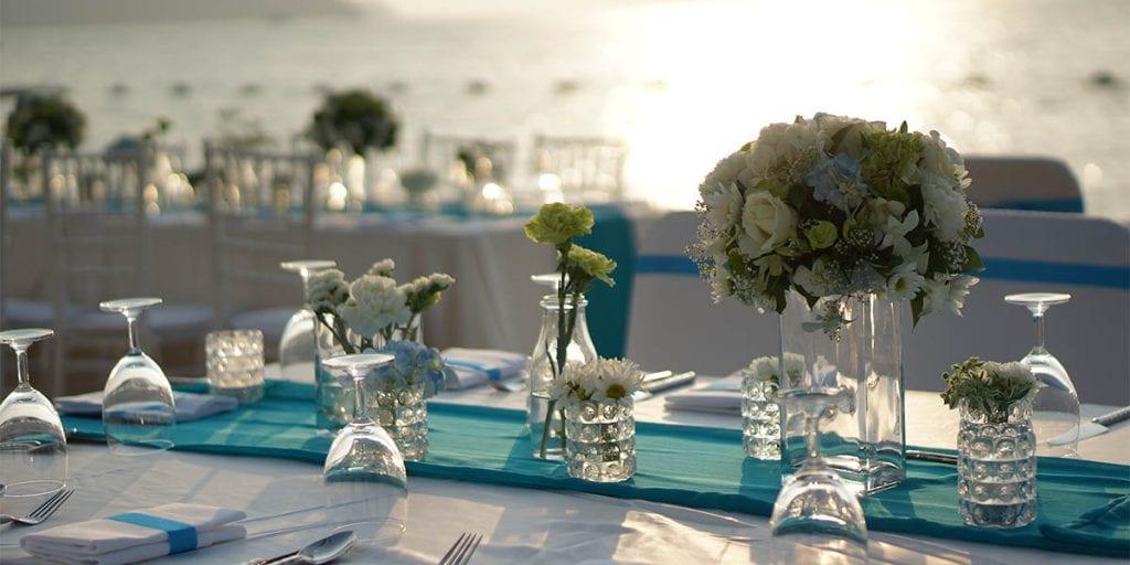 La decoración de tu boda debe ser sencilla y con elementos del Mediterráneo