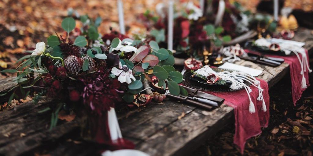 Decoración otoñal para boda en Menorca