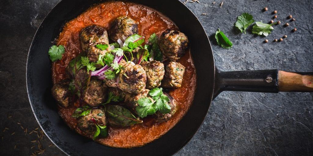Las Koftas son albóndigas de vegetales o carne
