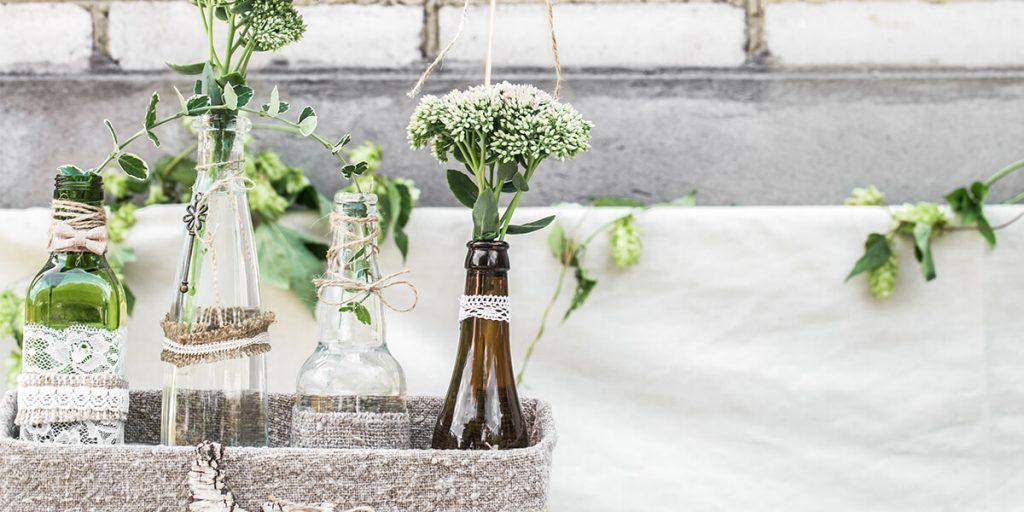 Decoración de bodas y eventos con elementos reciclados