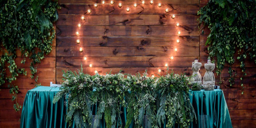 Decoración para bodas con lucer personalizadas