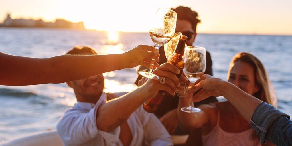 Ideas de pre-boda: coctail en un velero